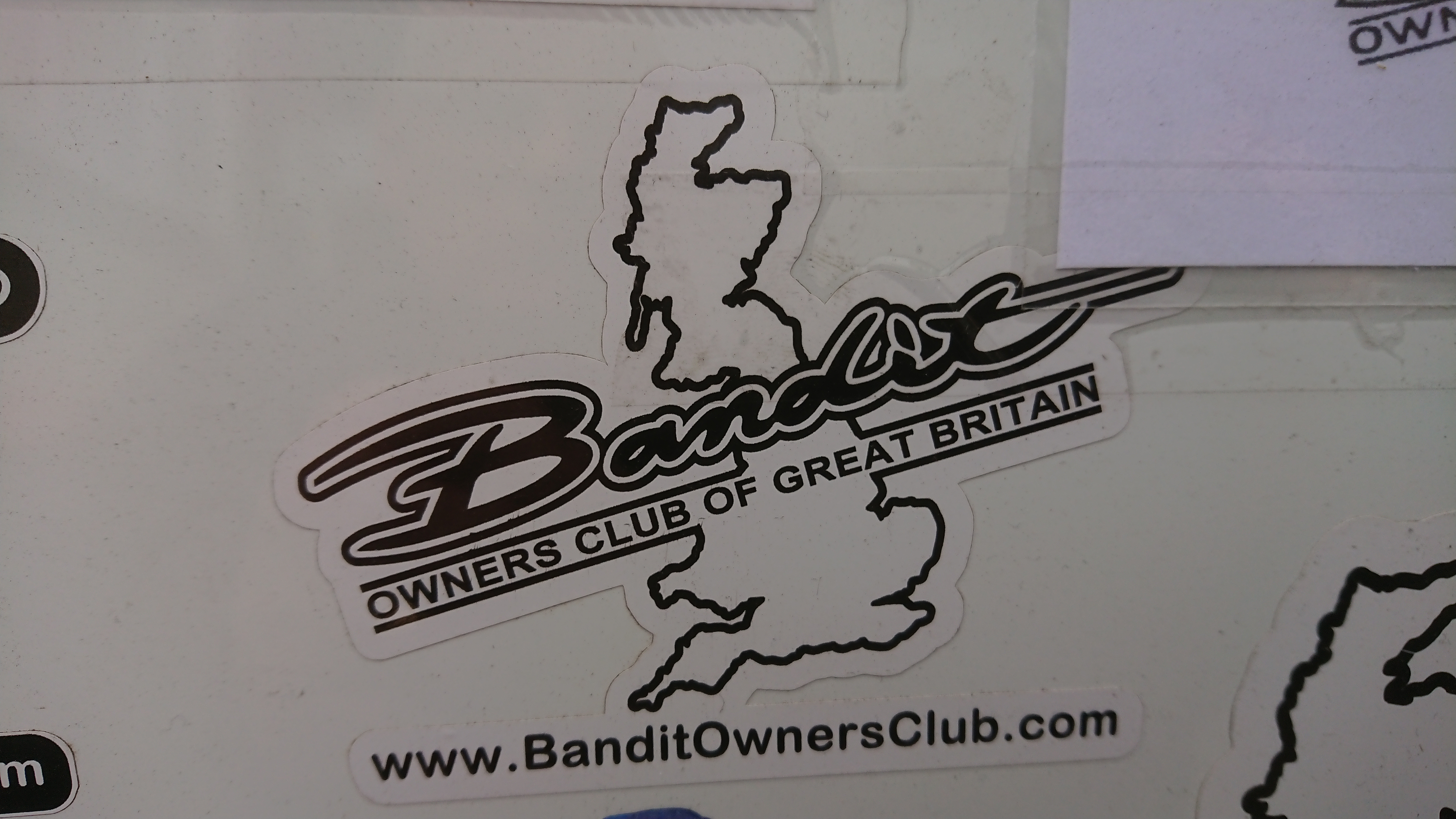 small club stickers for car or bike,
